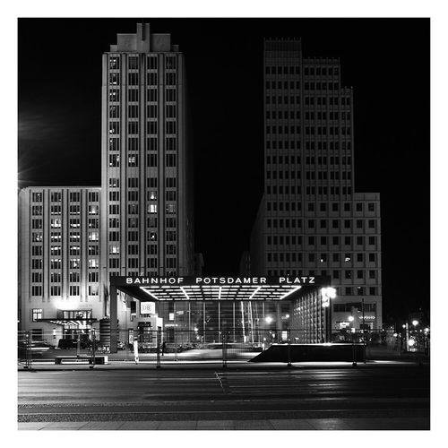 Blackandwhite Potsdamerplatz Urban Architecture Modern Architecture Night Night Photography Contemporary