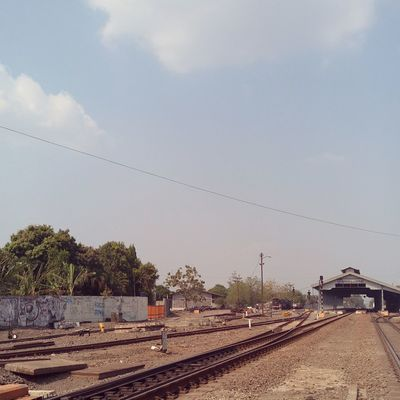 Stasiun Purwosari, Solo, 2017. INDONESIA Surakarta Surakarta, Indonesia Cable Day Electricity Pylon Nature No People Outdoors Rail Transportation Railroad Track Railway Track Sky Train Station Transportation Tree