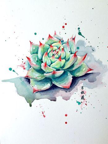 吉娃莲 Water Colour Plants Lovely Looksgood My Drawing Green