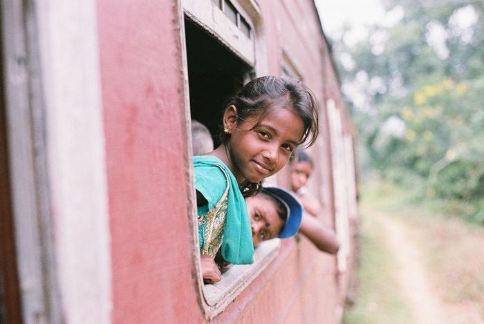 Film Filmisnotdead Film Photography Fm2 135film Sri Lanka Girl Travel Trip On The Train Smile Sweet Uniqueness