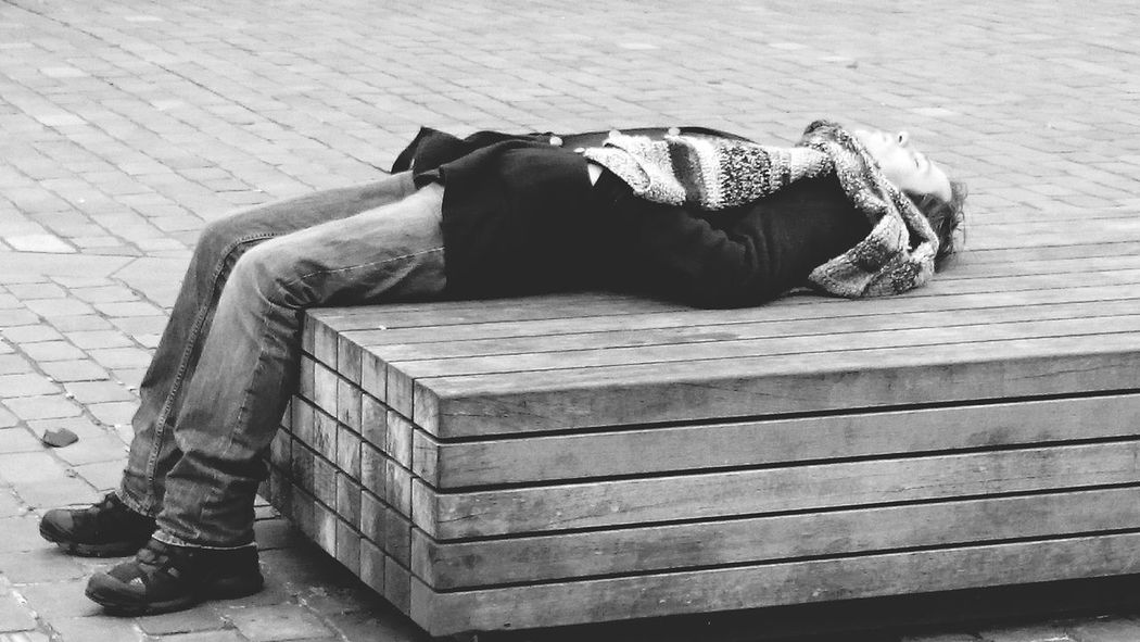 People And Places People Photography Street Photography One Person Dead Alive  or just Sleeping