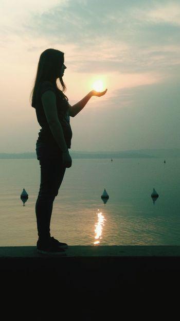 Gardasee Sonnenuntergang Hübsch Abschlussfahrt Italien That's Me Ich