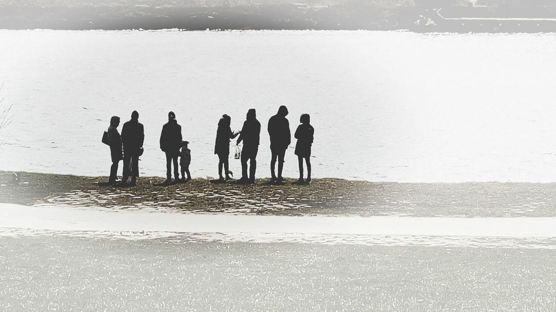 Group Of People Water Real People Outdoors Medium Group Of People Riverside Group Shadows