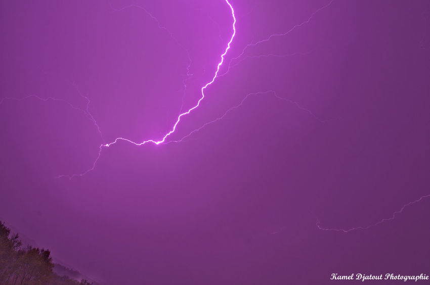 Beauty In Nature Electricity  Grenoble Illuminated Lightning Nature Night Outdoors Power In Nature Purple Sky Thunderstorm