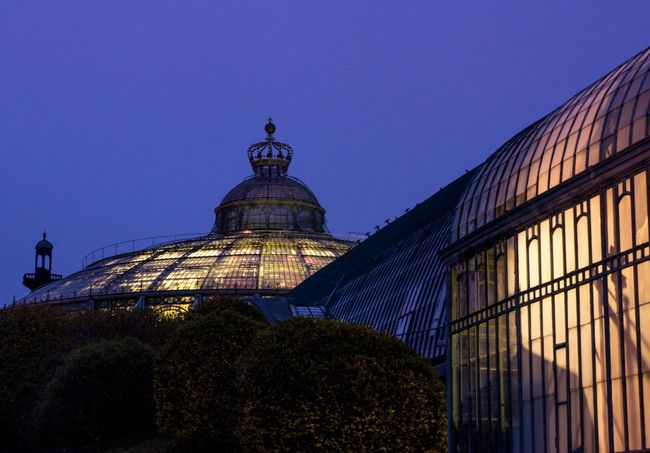Dusk Serres De Laeken (Brussels). Serres Bruxelles Bruxellesmabelle Brussel Nightphotography Night Lights Greenhouse