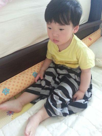 My Son :) Where Is My Half Pants?