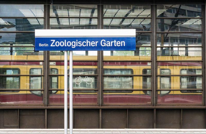 Train at berlin zoologischer garten railway station