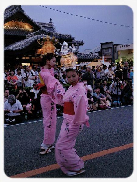 昨日、見に行った山鹿灯籠まつり。 熊本県 祭り