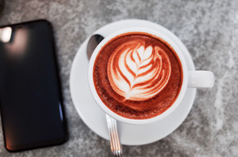 Drink Coffee - Drink Coffee Mug Cup Food And Drink Coffee Cup Refreshment Hot Drink Table Still Life Cappuccino Frothy Drink Crockery Indoors  Close-up Directly Above Freshness Food Saucer No People Latte Breakfast Floral Pattern