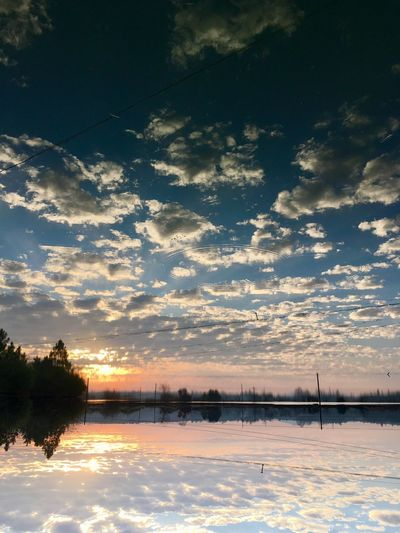 换一种打开方式,你会看到另一种美 Beauty In Nature Reflection Nature Sunset Tranquil Scene Tranquility