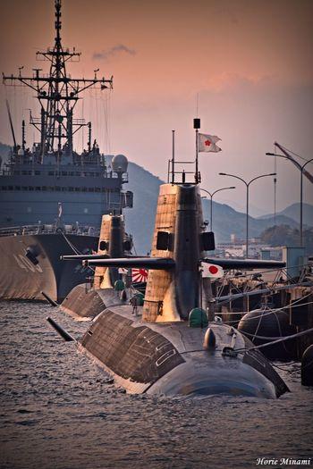 Hiroshima EyeEmBestPics EyeEm Selects EyeEm Gallery EyeEmNewHere EyeEm Best Shots Nautical Vessel Transportation Water Sky Sunset Ship No People