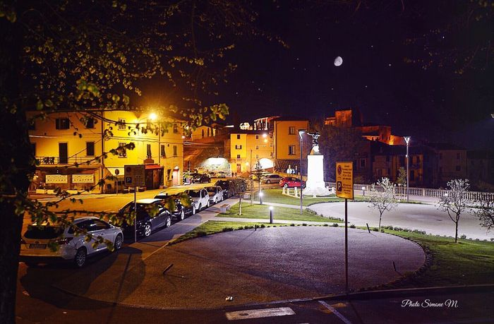 Night Illuminated Building Exterior Architecture Built Structure City Transportation