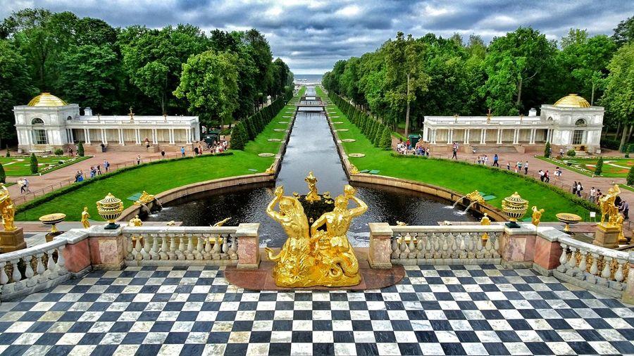 Russia Saint Petersburg Peterhof The Great Cascade Fountains Garden Garden Photography The Lower Park Travel Photography EyeEm Best Shots EyeEm Best Edits Eyeemphotography