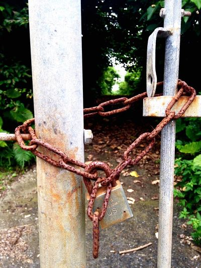 No Entry Marine Corps Base Camp Courtney Beauty In Nature Padlock