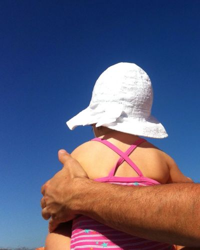 Baby Babygirl At The Beach Child Dad And Daughter