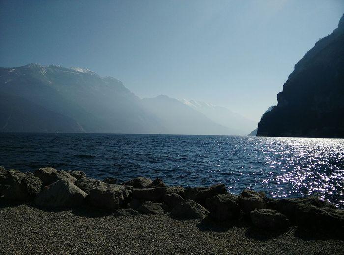 Sun Sparkles On Water Surface Of Sea
