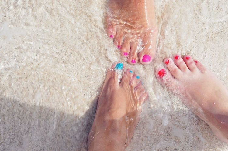 Barefoot Beach Ocean Colors