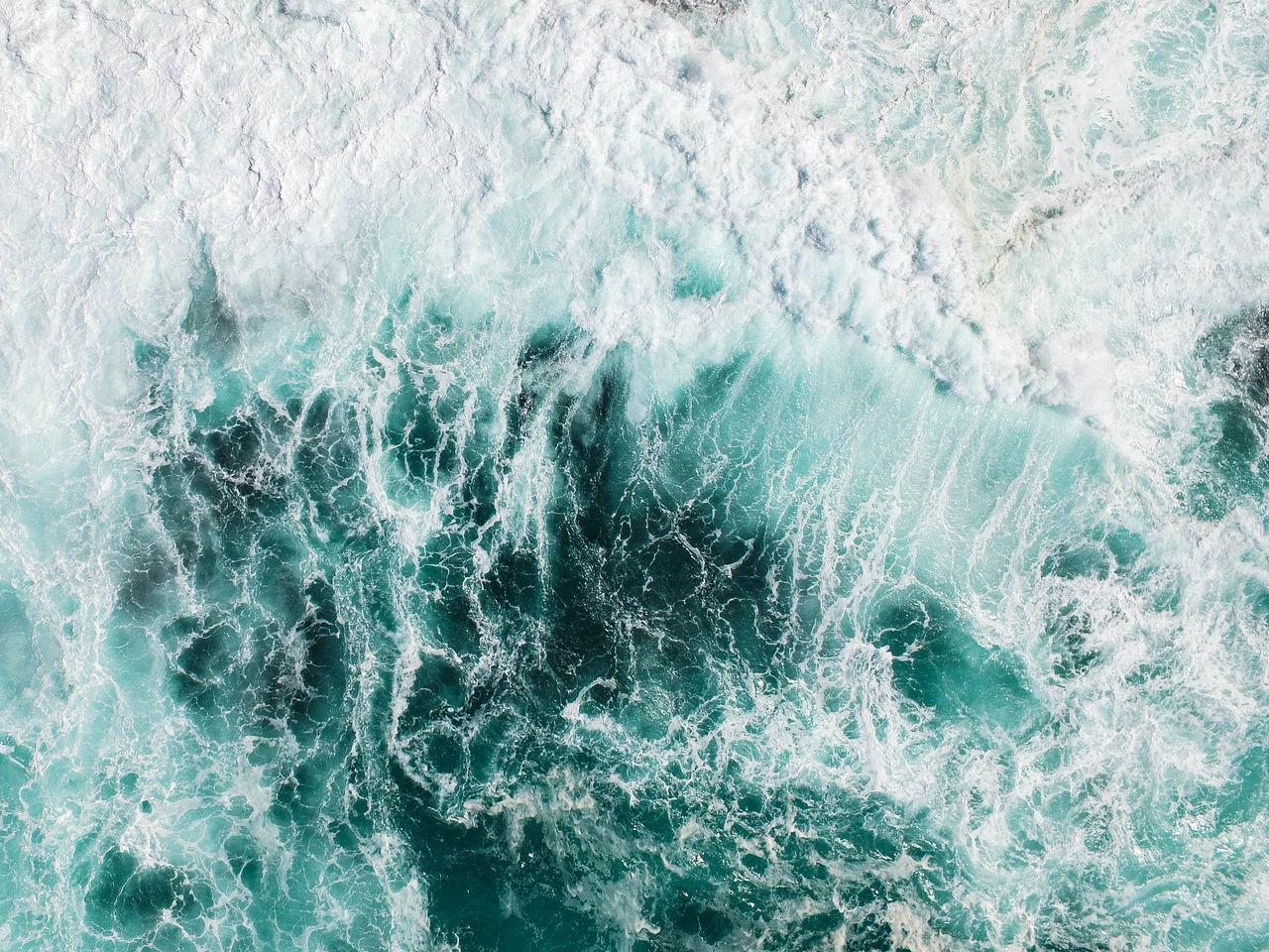 Splashing sea wave