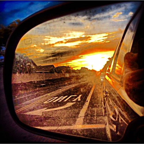 Staring at the world in my rear view.