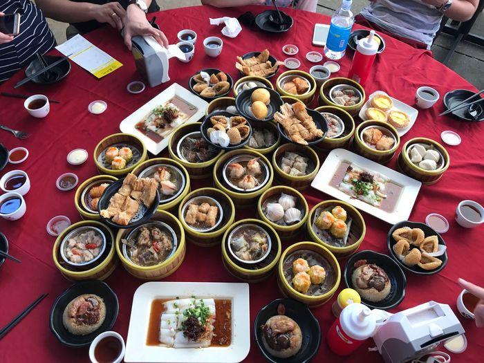 Table Food Penang Food And Drink Dim Sum Lunch Plate Chinese Food Chinese Dumpling High Angle View Dim Sum Eating Meal Vacations Lifestyles Traveling Love