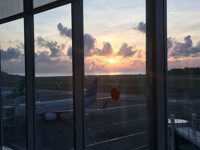 Sunrise At The Airport Balikpapan Kalimantan Timur Kalimantan