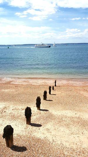 Boats⛵️ Beach Life Remote Water Sea Beach Sand Summer Pebble Shore Sky Horizon Over Water