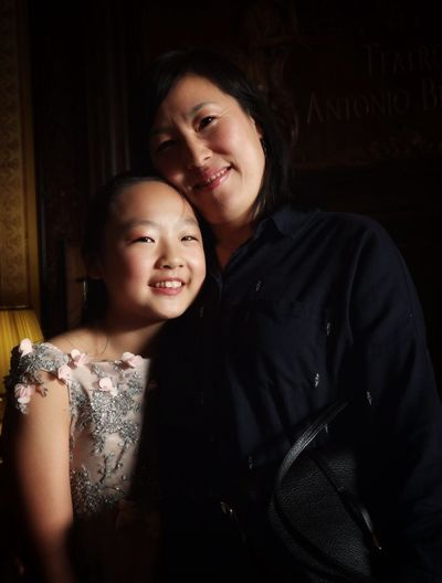 Monica Zhang and mother Musical Genius Young Artist Pianist Love Mother Portrait Pianist Portrait Of Family Belloni Theater Fantastic Musician Life Eleven-years-old Monica Zhang Barlassina Milan Italy A New Beginning 50 Ways Of Seeing: Gratitude The Modern Professional Capture Tomorrow Moments Of Happiness