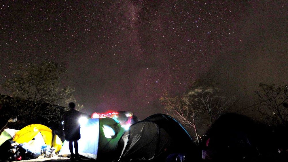 Mountain sumbing Milky Way Backpacker Hikingadventures Mountain Night Star - Space Illuminated Group Of People Crowd Event Large Group Of People Real People Arts Culture And Entertainment Nature Space Men Astronomy Lifestyles Leisure Activity Enjoyment Sky Outdoors Star Galaxy