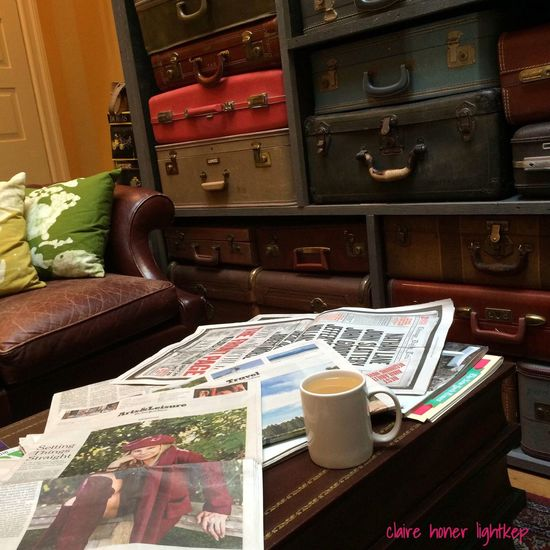 Peace And Quiet on a Beautiful Sunday Morning with The New York Times a Cup Of Coffee and Exquisite Surroundings is another Happy Place♥ for Me.