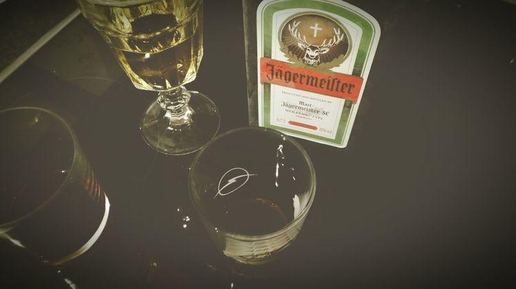 Drinking Glass No People Alcohol Close-up Party Partytime Jäger Jägermeister Jagerbombs  Vine Essen & Trinken Black Drinks