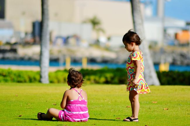 """""""We Are Family"""" Enjoying Life Relaxing Hanging Out Beach Hawaii Outdoors Sisters Girls Honolulu  Twins"""