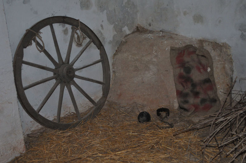 Abandoned Architecture Built Structure Indoors  No People Old Wall Wall - Building Feature Wheel