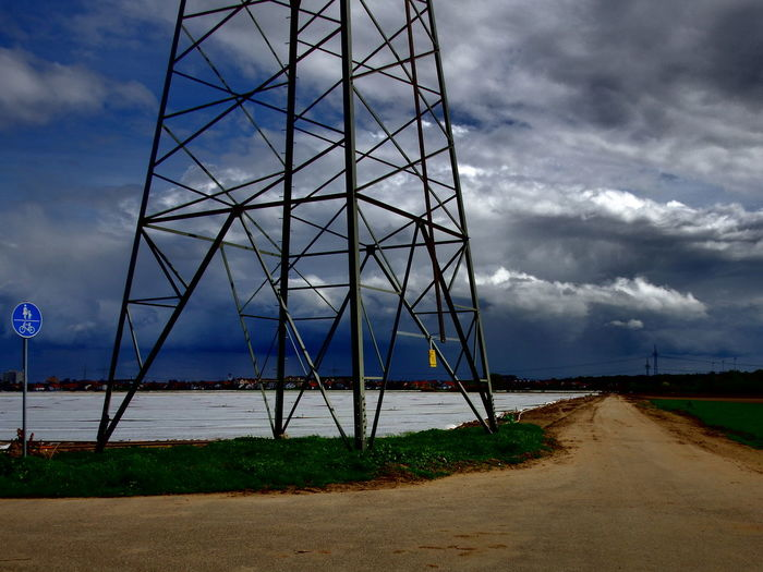Aprilwetter Blue Cloud Cloud - Sky Day Environmental Conservation High Voltage Landscape No People Outdoors Road