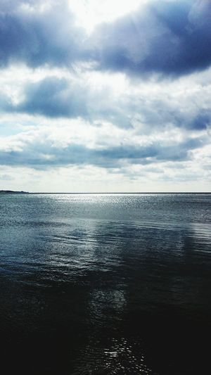 Sea And Sky Water Reflections Silver Sunlight Sun Reflection