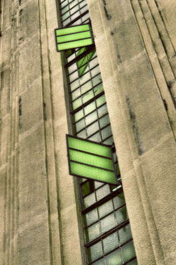 Architecture Building Exterior Built Structure Close-up Day Green Color Green Stained Glass Window No People Outdoors