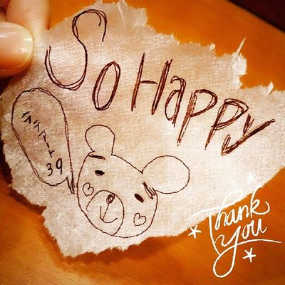So!Happyo(^o^)o Thank-you ラテアートありがとう♪ 落書き Art 39 Thankyou これはこれでart Sohappy