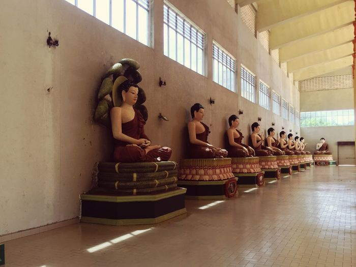 Buddhist statues Male Likeness Human Representation Statue Indoors  Sculpture No People Architecture Day