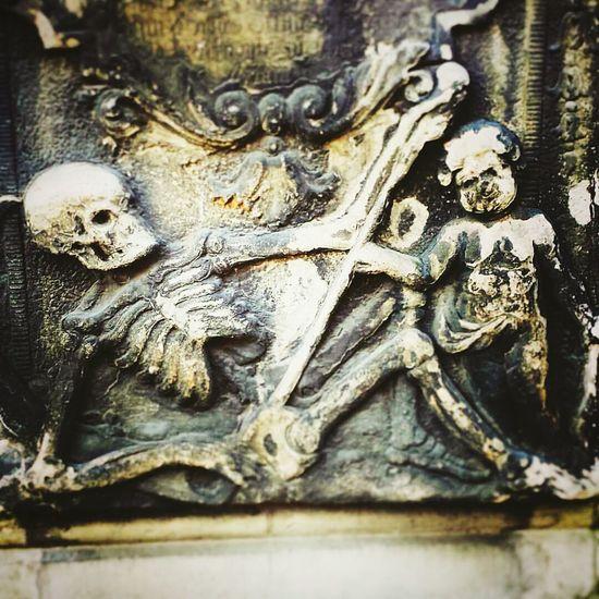 Yolo Skeleton Putto Epitaph Baroque 17th Century Headstone