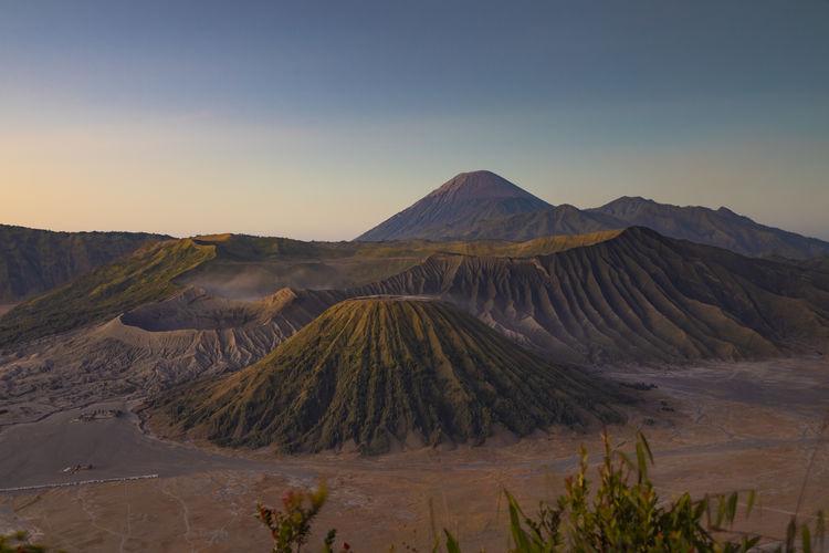 Sunrise in bromo tengger semeru national park, java island, indonesia