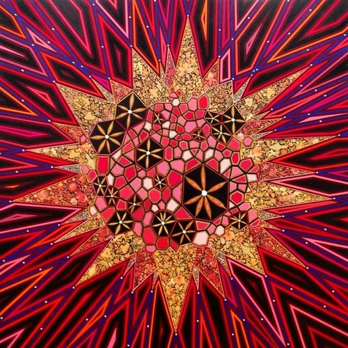 glad to catch the last day of Fredtomaselli Currentevents at Jamescohangallery . could stare at his paintings for hours & always find something new - @jamescohangallery
