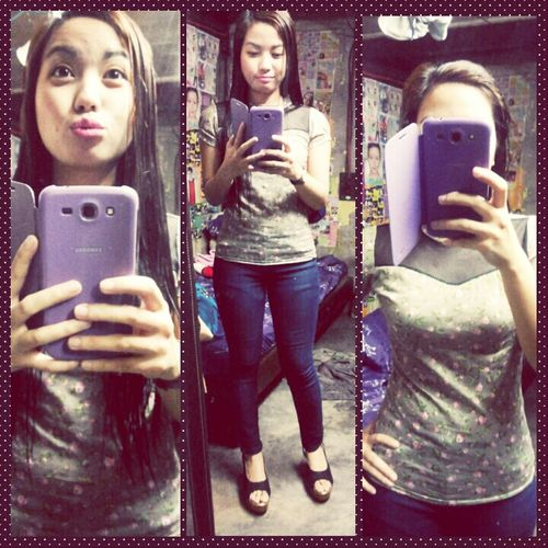 my Ootd Jeans Notsolate Mirror i really missed wearing jeans everyday. ☆