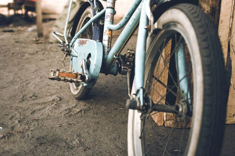 Oldie Photographer Photography Vintage Rusty Transportation Mode Of Transportation Land Vehicle Wheel Day Sunlight Motorcycle Metal Sand Land Close-up Nature Tire City Bicycle Dirt Road