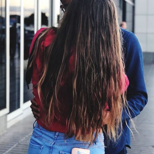 Real People Hairstyle Lifestyles Hair Long Hair One Person Women
