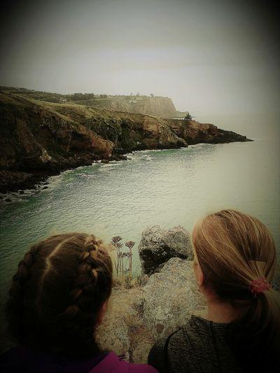 Sky Beauty In Nature Sea Nature Beach Coastal Feature Coastal Walk Coastline Two Girls And Coastline
