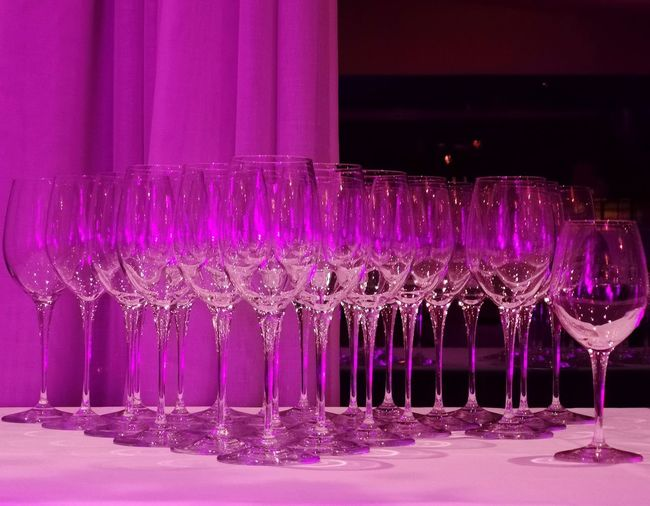 Wine Wineglass Glass Glass - Material Nightclub Pink Color Party - Social Event Celebration Multi Colored Purple Drink Drinking Glass Magenta Arrangement