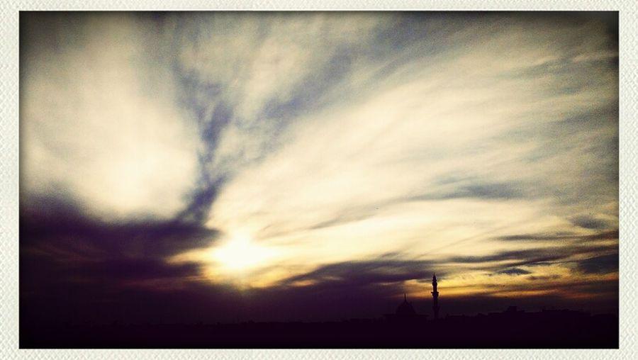 #mosque #sunset #sky #clouds
