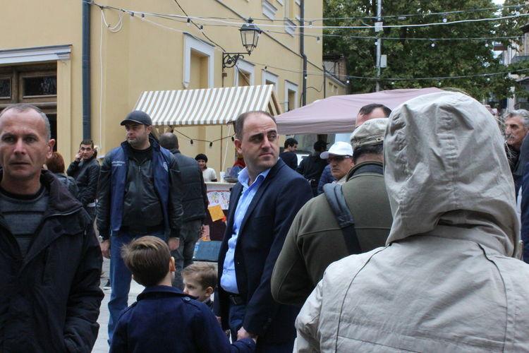 Mayor Davit Narmania of the city of Tbilisi. View from the 2016 Tbilisoba festival. Davit Narmania Mayor Davit Narmania Tbilisi დავით ნარმანია