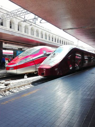 Transportation Day Outdoors Mode Of Transport Italotreno Frecciarossa1000 Termini Station Highspeedtrain My Own Photography EyeEm Selects Travel Destinations Let's Go. Together.