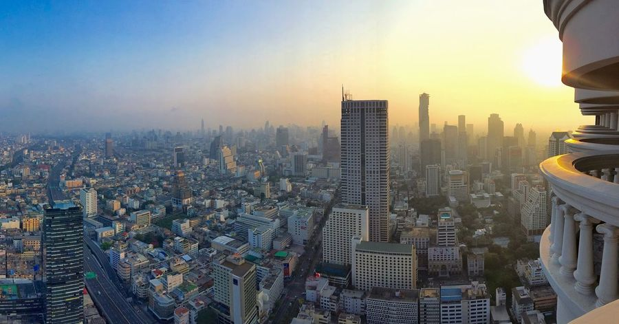 Bangkok Bangkok Thailand. Thailand Architecture Building Exterior Built Structure City Cityscape Day Downtown District Modern No People Outdoors Sky Skyscraper Sunset Travel Destinations Urban Skyline