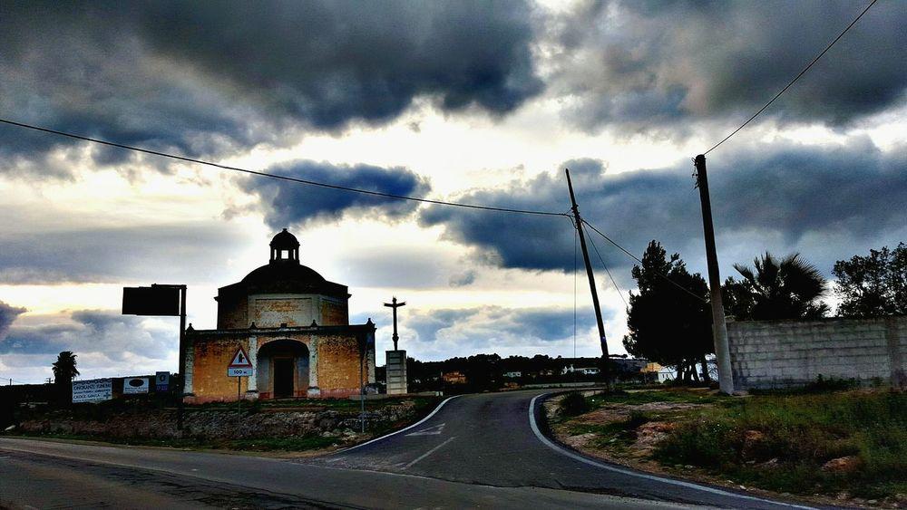 Church Showcase: February Clouds Sky Blue Chiesa Nuvole Cielo Azzurro Nero Salento Costa Salentina Sud Gallipoli Lecce Torre Suda Wonderful Tempesta